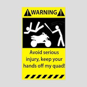 Quad Warning Sticker (Rectangle)