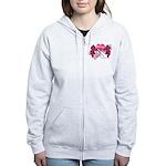 Pink Racing Flags Women's Zip Hoodie