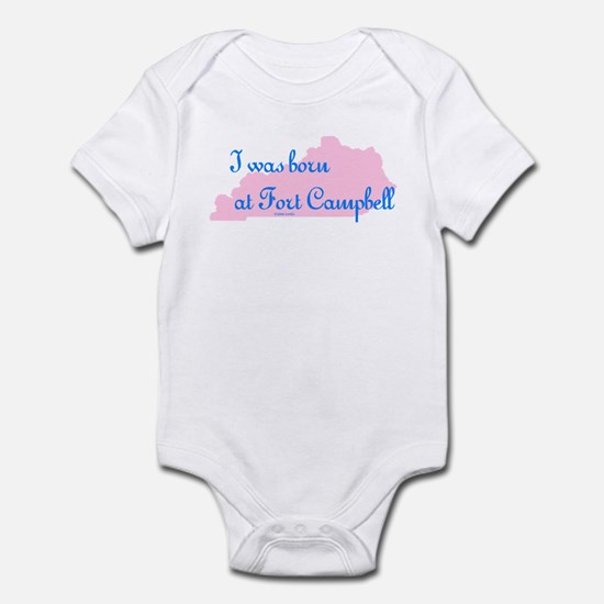 Born at Fort Campbell (pink) Infant Creeper