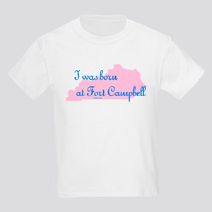 Born at Fort Campbell (pink) Kids T-Shirt