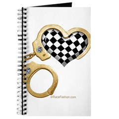 checkered heart and handcuffs Journal