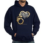 checkered heart and handcuffs Hoodie (dark)