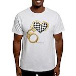 checkered heart and handcuffs Light T-Shirt