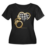 checkered heart and handcuffs Women's Plus Size Sc