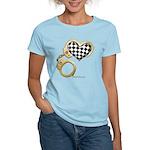 checkered heart and handcuffs Women's Light T-Shir