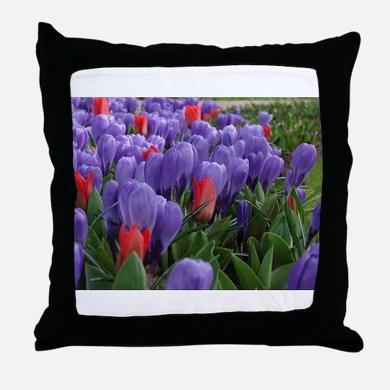 Funny Tulips Throw Pillow