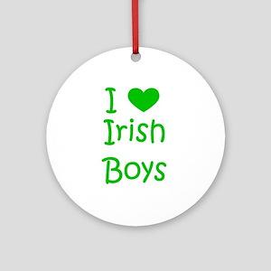I Heart Irish Boys Ornament (Round)