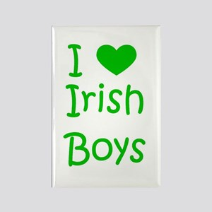 I Heart Irish Boys Rectangle Magnet