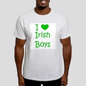 I Heart Irish Boys Ash Grey T-Shirt