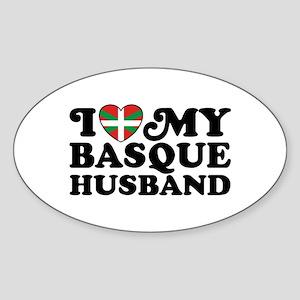 I Love My Basque Husband Sticker (Oval)