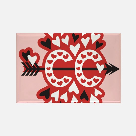 Cross Country Valentines Rectangle Magnet
