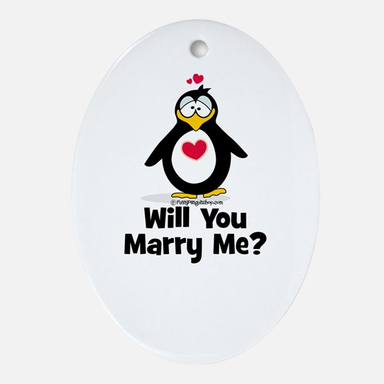 Will You Marry Me? Ornament (Oval)