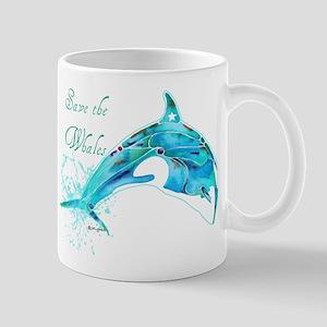 Save the Whales Teal Mug