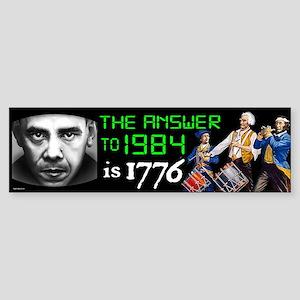 Answer to 1984 Sticker (Bumper)