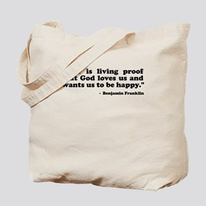 Ben Quote Tote Bag