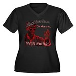 Don C Women's Plus Size V-Neck Dark T-Shirt