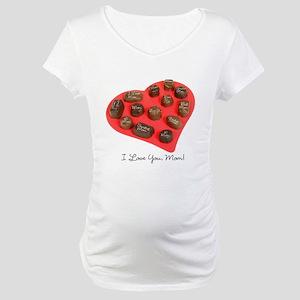 Mom Candy Heart Maternity T-Shirt