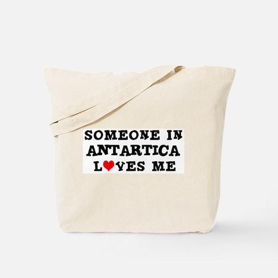 Someone in Antarctica Tote Bag