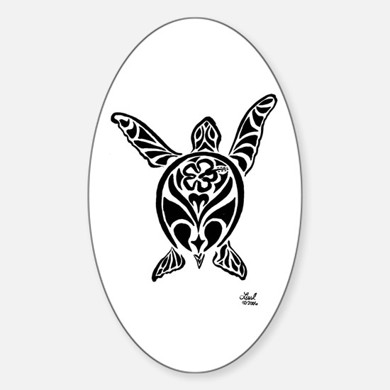 Sea Turtle Oval Decal