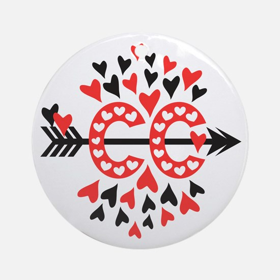Cross Country Valentines Ornament (Round)