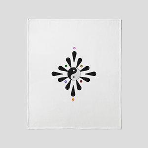 Yin Yang Yoga Throw Blanket