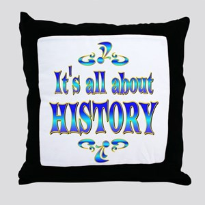 About History Throw Pillow