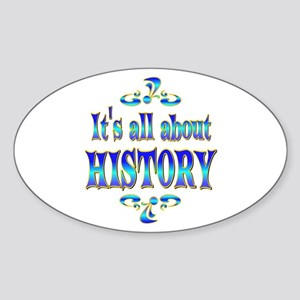 About History Sticker (Oval)