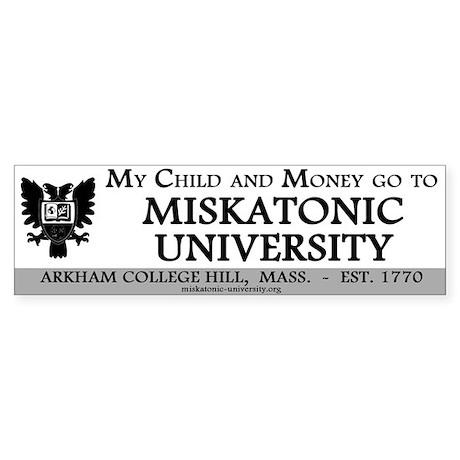Bumpersticker: Child and Money go to MU
