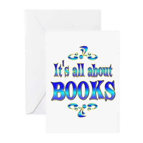 About Books Greeting Cards (Pk of 10)