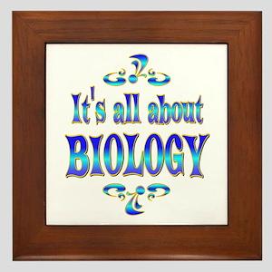 About Biology Framed Tile