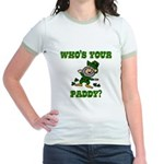 Who's Your Paddy? Jr. Ringer T-Shirt