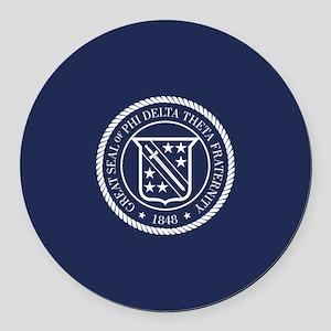 Phi Delta Theta Seal Round Car Magnet