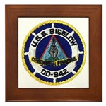 USS BIGELOW Framed Tile