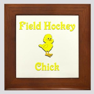 Field Hockey Chick Framed Tile