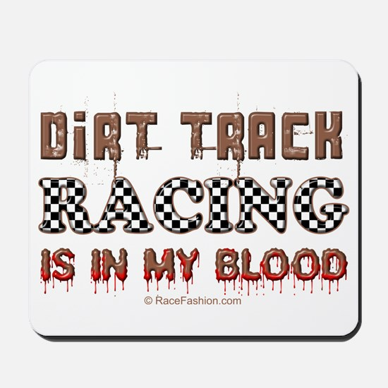 Dirt Track Racing Blood Mousepad