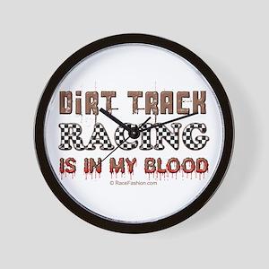 Dirt Track Racing Blood Wall Clock