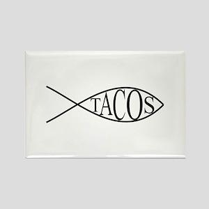 Fish Tacos Rectangle Magnet