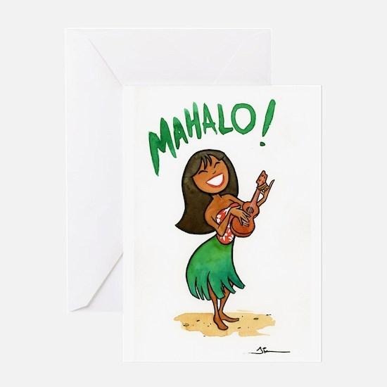 Unique Ukulele girl Greeting Card