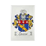 Spezzani Family Crest Rectangle Magnet (100 pack)