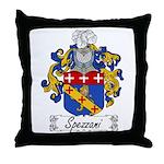 Spezzani Family Crest Throw Pillow