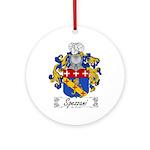 Spezzani Family Crest Ornament (Round)