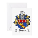 Spezzani Family Crest Greeting Cards (Pk of 10