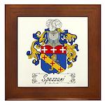 Spezzani Family Crest Framed Tile