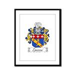 Spezzani Family Crest Framed Panel Print