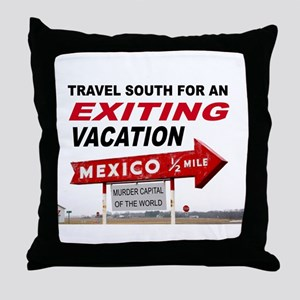 DANGER VACATION Throw Pillow