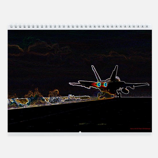 US F-18 Aero-Art Wall Calendar