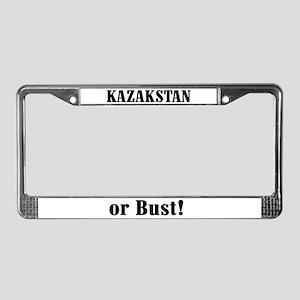 Kazakstan or Bust! License Plate Frame