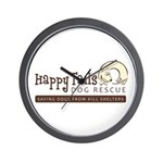 Happy Tails Dog Rescue Wall Clock