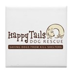 Happy Tails Dog Rescue Tile Coaster