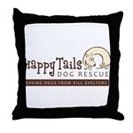 Happy Tails Dog Rescue Throw Pillow